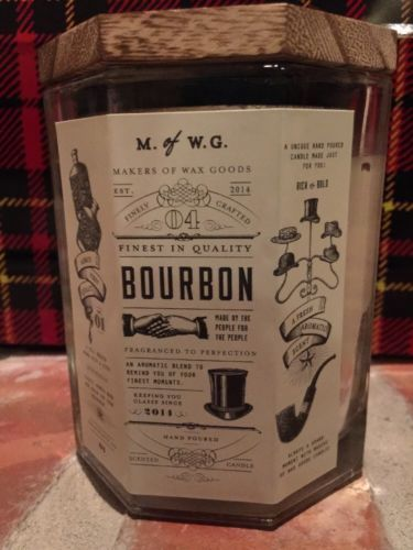 New M Of W G Makers Waxed Goods Bourbon Candle Hand Poured 11 4 Oz Ebay