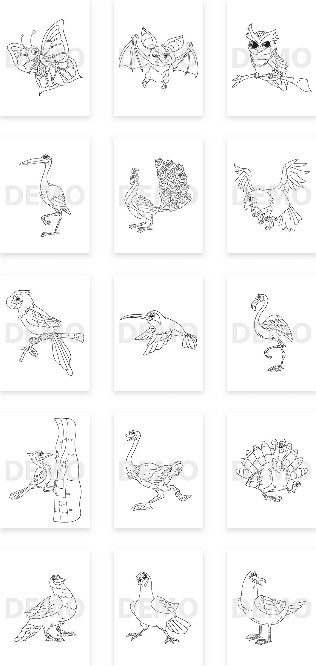 Flying Animal Coloring Pack Plr Review Coloring Books In A Proven Hot Niche Create Flyers Illustration Software Coloring Books