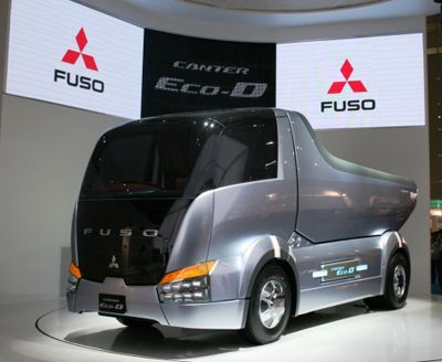 Inspiration For The Truck Levi Drives In His Road Maintenance Position Mitsubishi Fuso Canter Dump Truck Concept Concept Cars Truck Design Big Monster Trucks