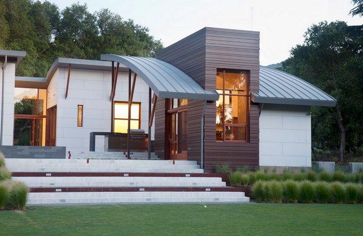 Desain Atap Melengkung Rumah Minimalis Unik Housing Pinterest