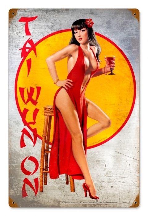 Tai Wun On sexy Asian pin up girl