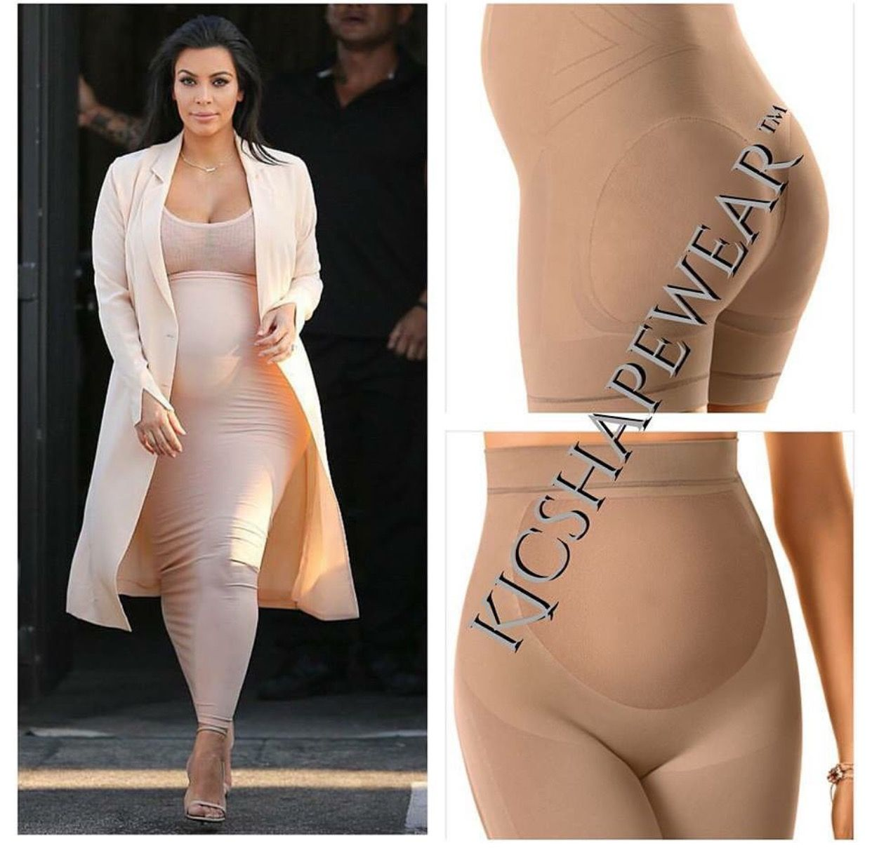 a7743437d070b Kim Kardashian West s Pregnancy Style Secret Revealed. Pregnancy Shapewear  by KJCOUTURE. Click Pic to purchase
