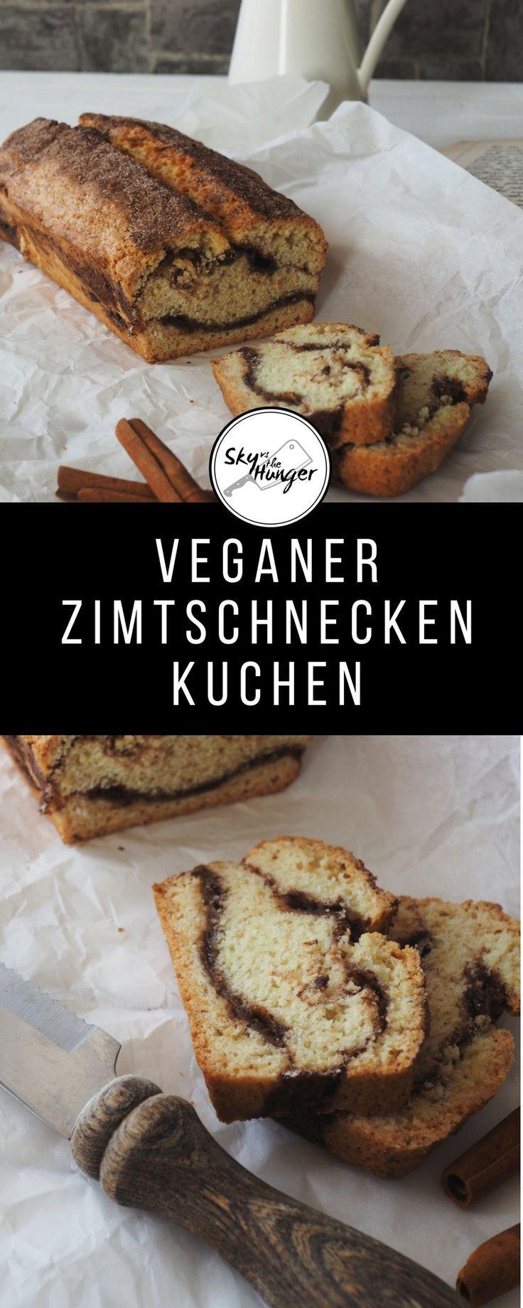 Veganer Zimtschnecken-Kuchen im Kastenformat - SKY VS THE HUNGER