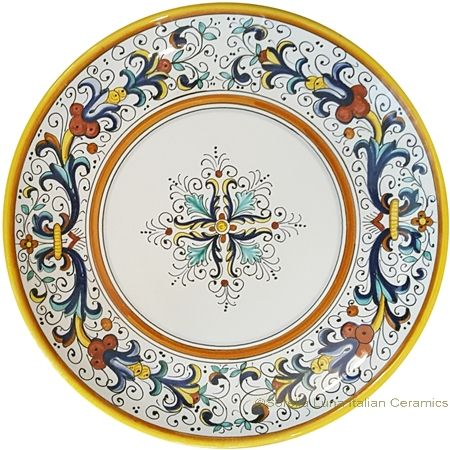 Decorative Hanging Plate - Ricco Deruta style with center - 10 inch diameter (25cm) · Hanging Plates  sc 1 st  Pinterest & Decorative Hanging Plate - Ricco Deruta style with center - 10 inch ...