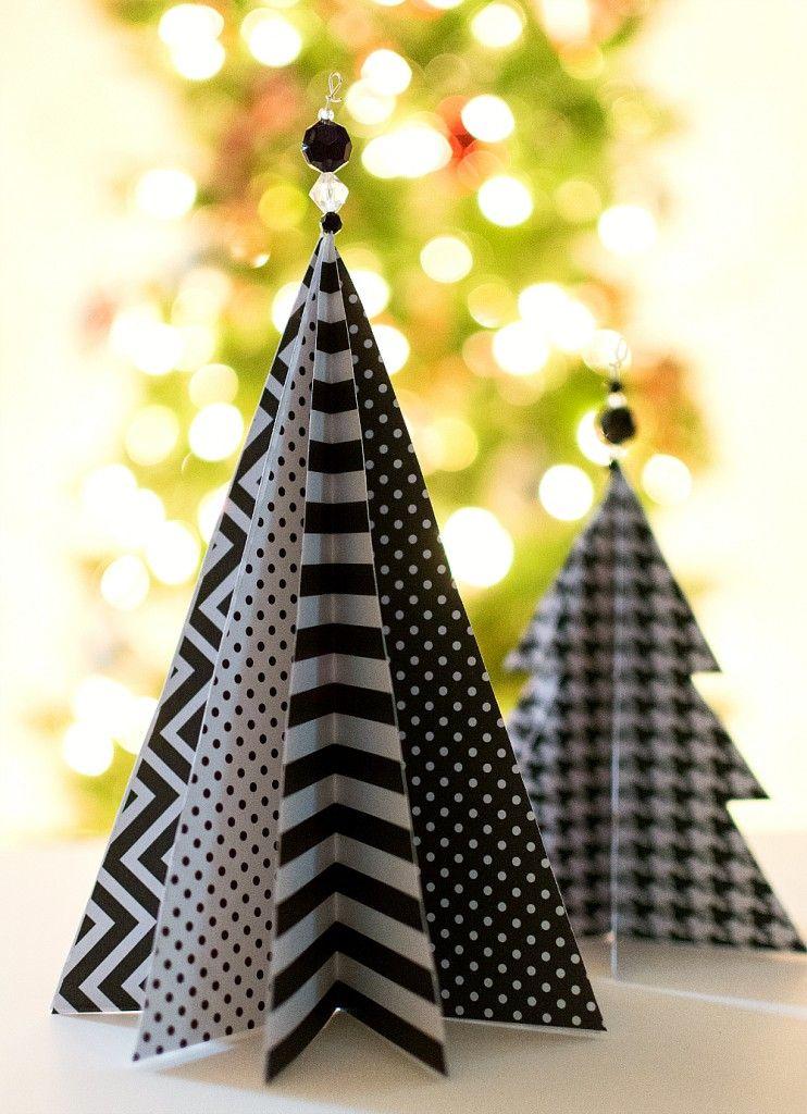 45 DIY Paper & Cardboard Christmas Decoration / FresHOUZ