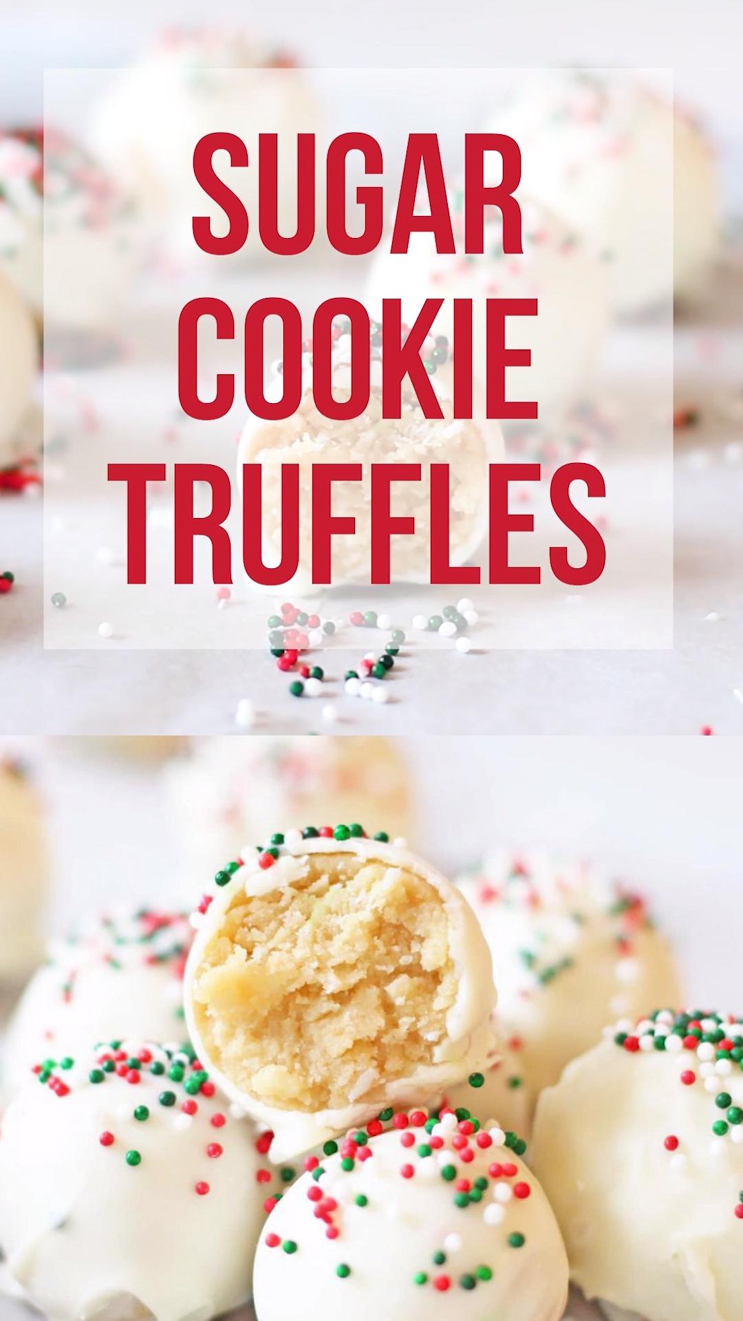 Sugar Cookie Truffles -   19 best holiday Cookies ideas