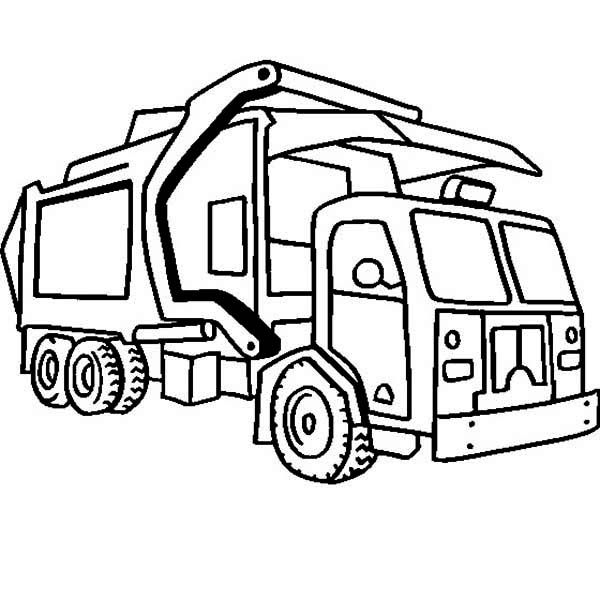 Garbage Truck Coloring Pages Truck Coloring Pages Monster Truck