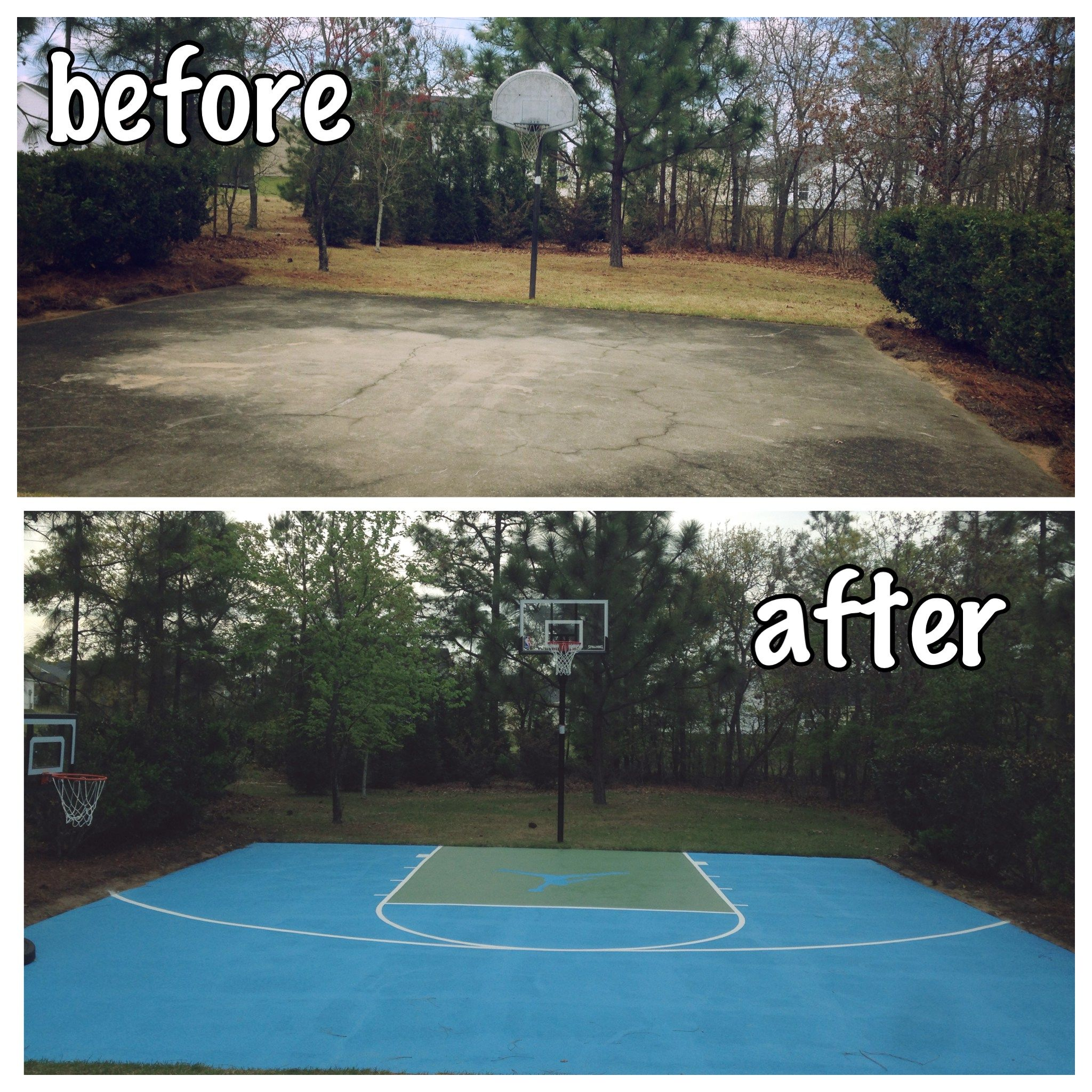 Diy Basketball Court Lawn In 2019 Outdoor Basketball