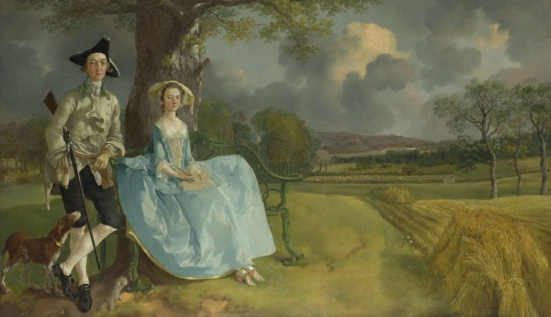 thomas gainsborough mr and mrs andrews c 1750 oil on. Black Bedroom Furniture Sets. Home Design Ideas