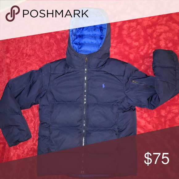 6d060b46d Boys Polo Coat Blue quilted down Polo coat in perfect condition! Just like  new! Polo by Ralph Lauren Jackets & Coats Puffers