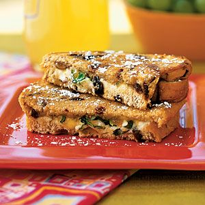 Vegetarian Sandwiches | Grilled Goat Cheese Sandwiches with Fig and Honey | CookingLight.com