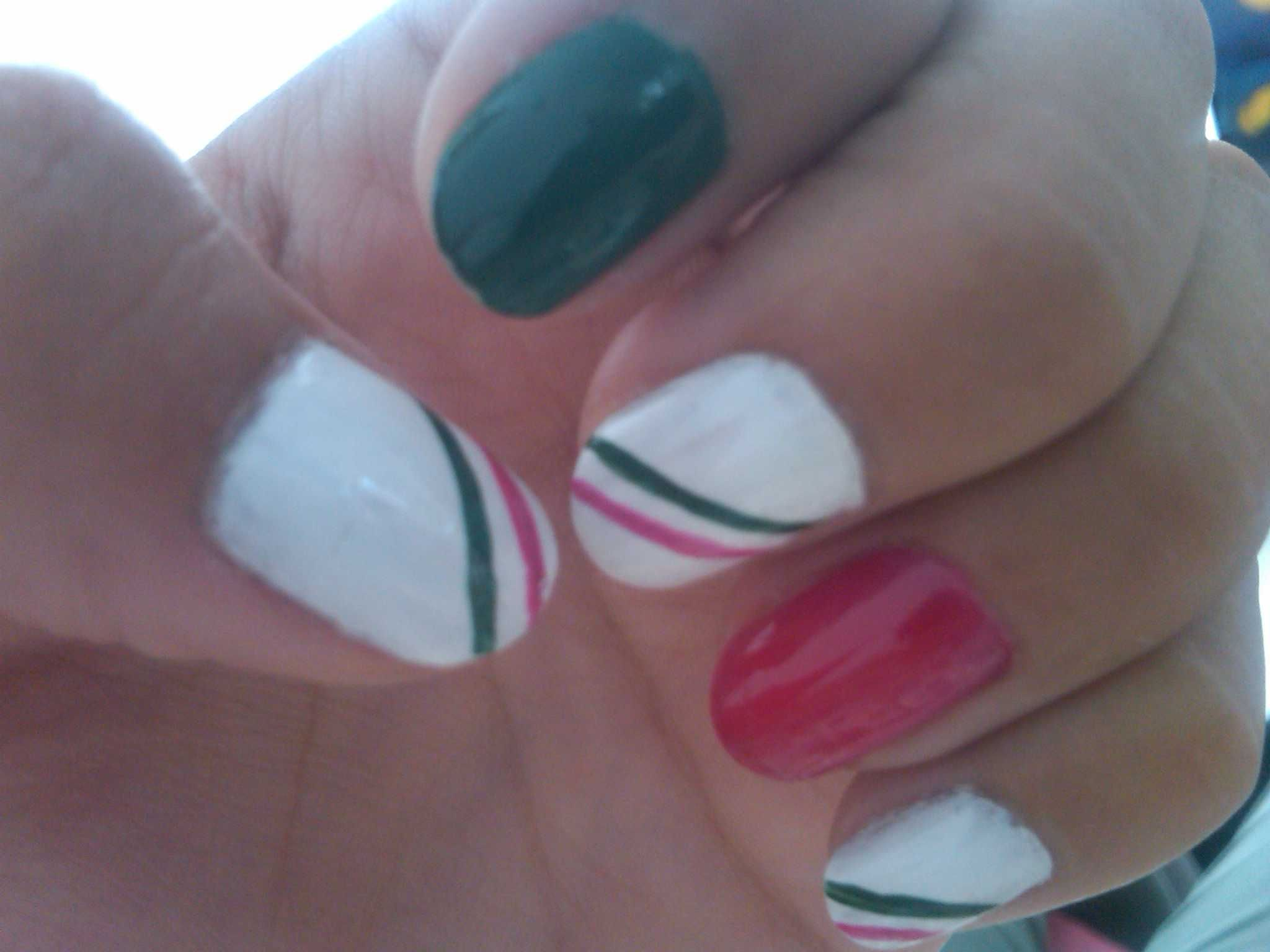 Mexico S Flag Nails Mexico S Independence Day September 15th