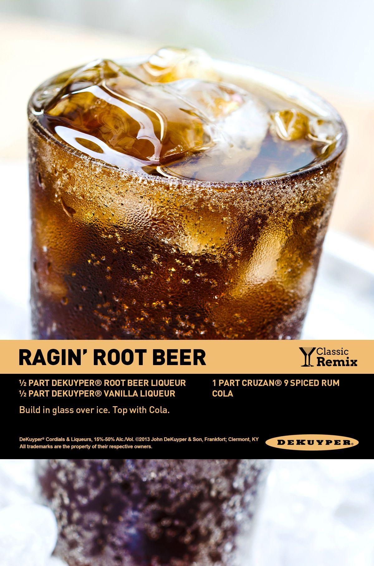 Ragin Rootbeer Drink Recipe Dekuyperusa Frozen Drinks Alcohol Alcohol Recipes Drinks Alcohol Recipes