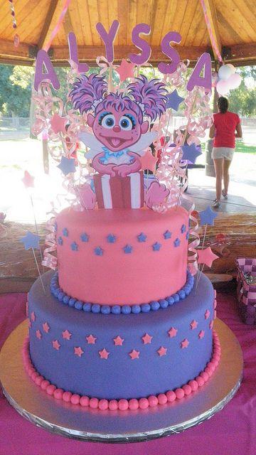 Astounding Abby Cadabby Cake Sesame Street Birthday Party Birthday Elmo Personalised Birthday Cards Veneteletsinfo