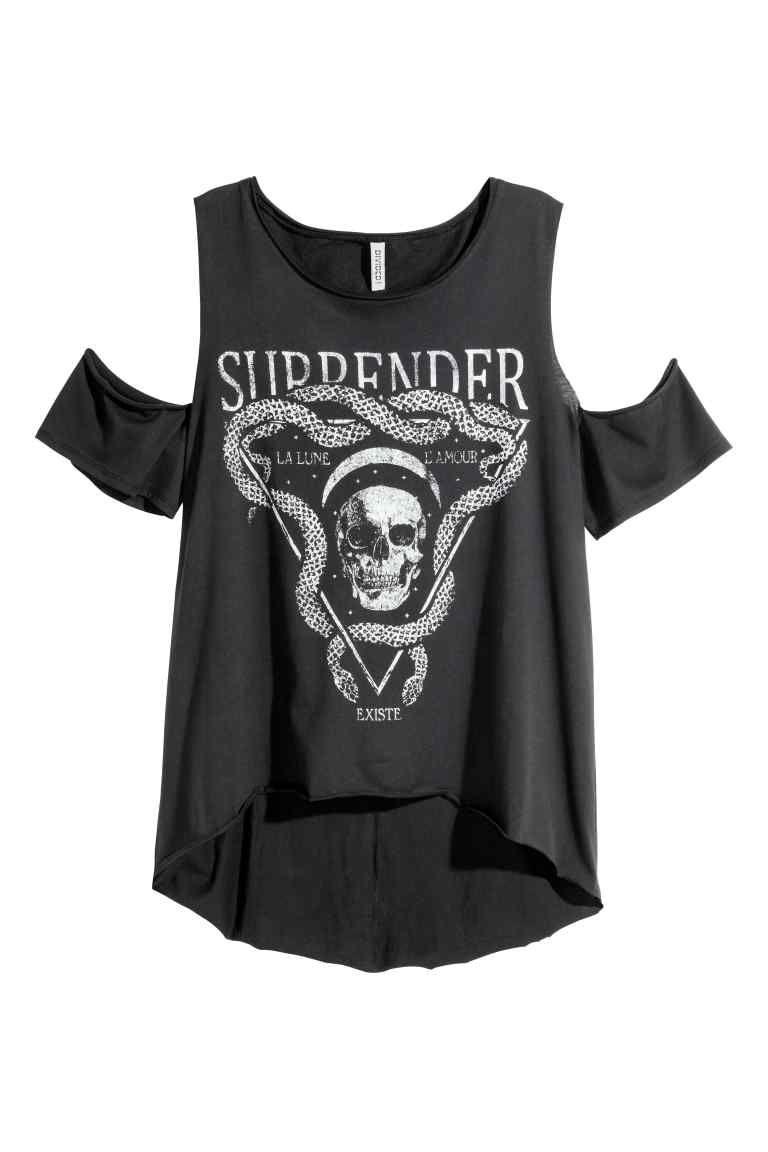T-shirt z wycięciami | H&M | cut outs | Pinterest | Camisetas, Ropa ...