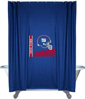 Nfl New York Giants Shower Curtain By Sports Coverage 29 96 Sports Coverage Nfl New York Giants New York