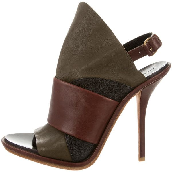Pre-owned - Leather open toe boots Balenciaga AEHLrMreJ