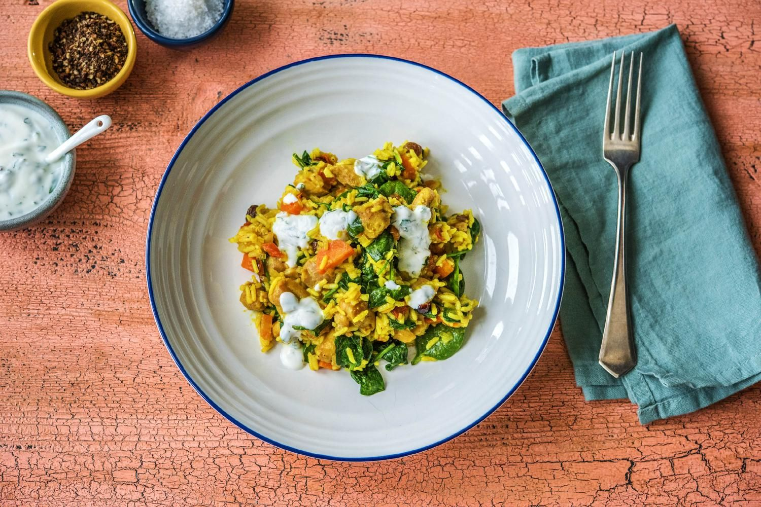 Sri Lankan Biryani With Chicken Craisins And Minty Yoghurt