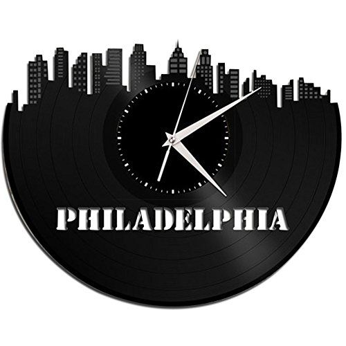 New York Wall Clock Skyline City Buildings Vinyl Record Best Gift Art Home Decor