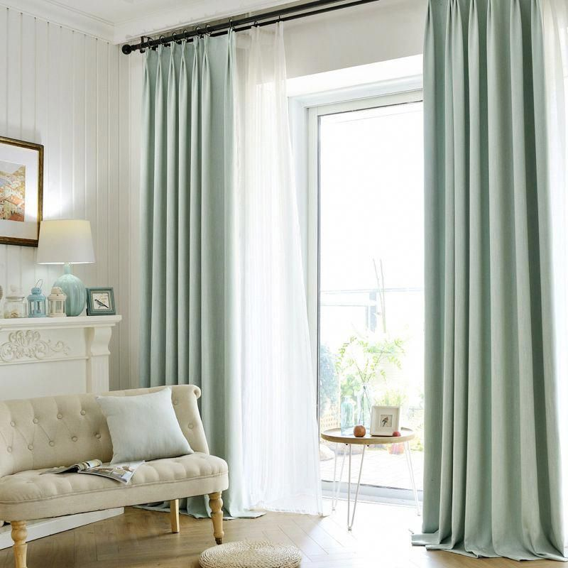 8 Color Finish Product Linen Thicken 1000g Thermal Insulated Sound Insulation Blackout Curtains Mode Curtains Living Room Living Room Blinds Living Room Drapes #thermal #living #room #curtains