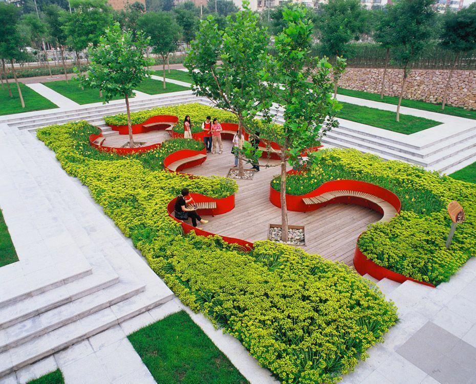 Raised Beds Turenscape Easy Landscaping Landscape Architecture Landscape Plans