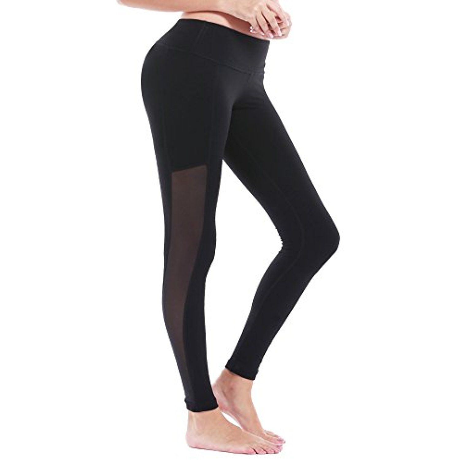 fade8cd66a546b DeepTwist Women's High Waist Yoga Pants Tummy Control Running Tights Active  Power Stretch Workout Leggings * Click on the image for additional details.