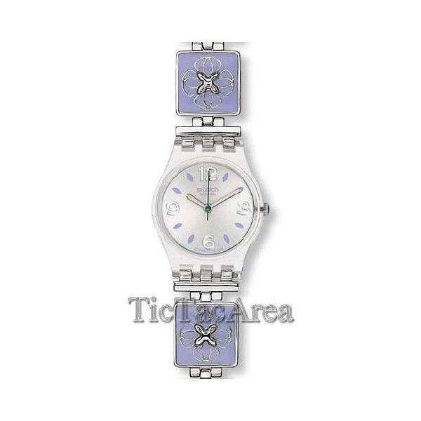 lavender Swatch watch
