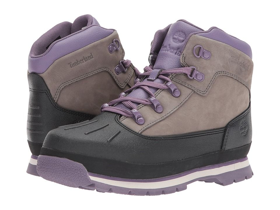 45f41c0345c9 Timberland Kids Euro Hiker Shell Toe (Big Kid) Girl s Shoes Pewter ...