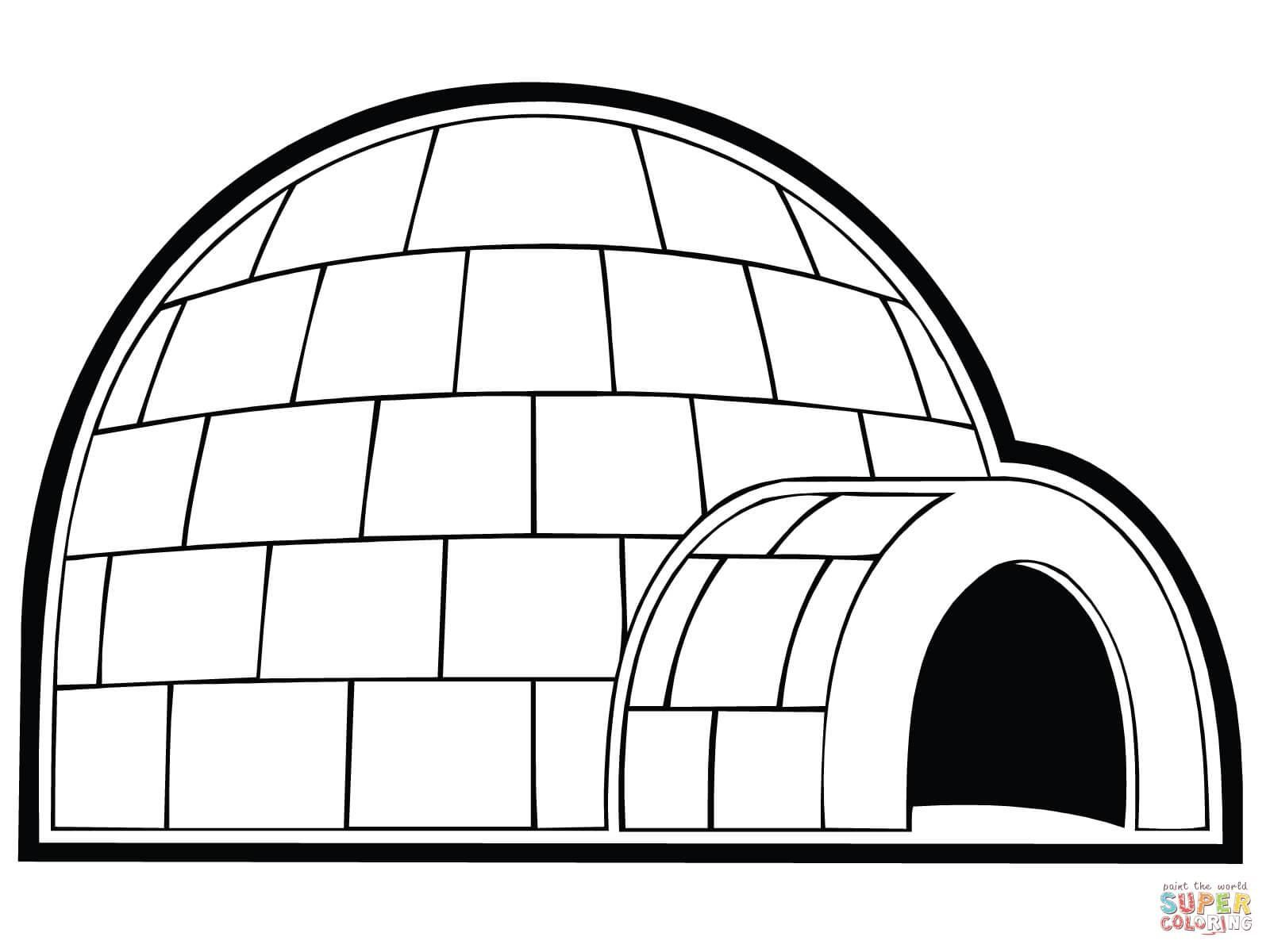 Awesome Coloring Page Igloo that you must know, You're in