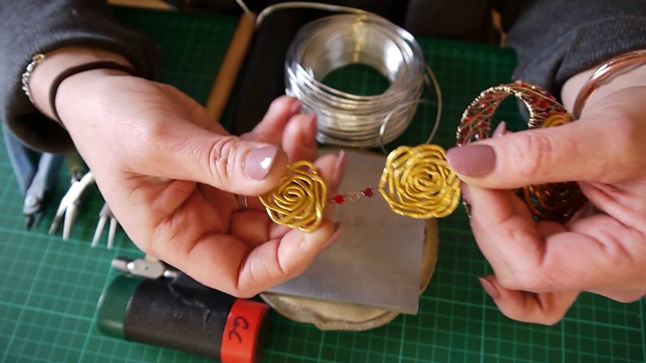 Chunky wire roses wire work wire tutorials copper wire
