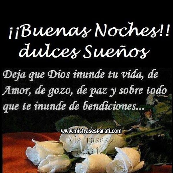 Buenas noches, dulces sueños, Dios te bendiga | Oración ...