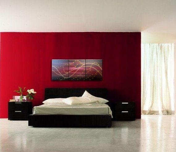 Large Cherry Blossom Painting Midnight Joyful Calming Orginal Art