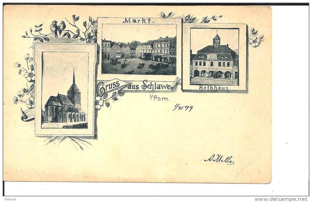 PRA078 / Schlawe (Slawno), Pommern. Mehrfach-Ansichten 1899
