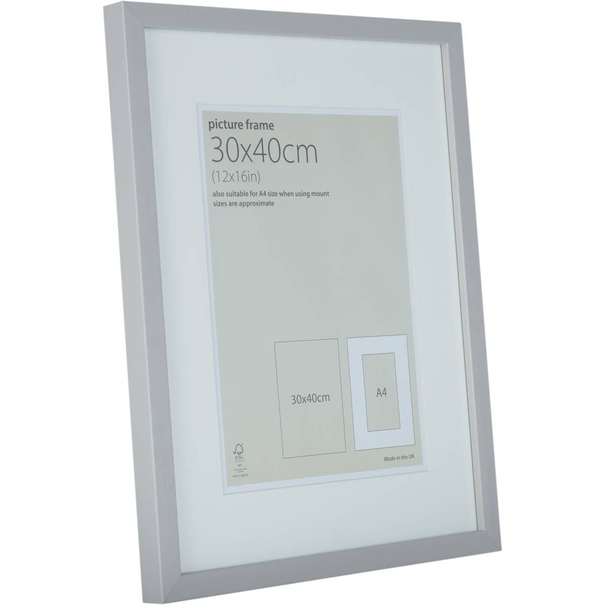 Light Grey Block Frame 30cm X 40cm Hobbycraft Gallery Frame Picture Frames Frame