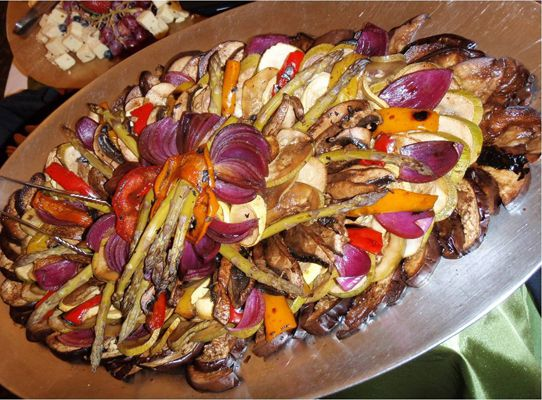 Marinated Grilled Vegetable Display By Winning Taste Catering