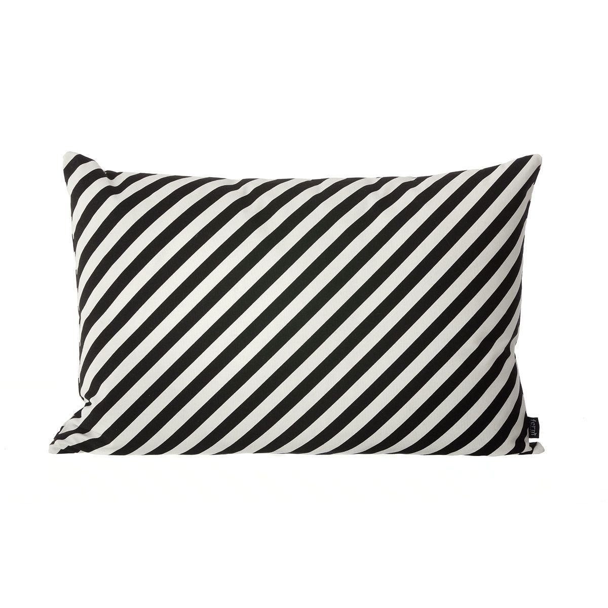 Ferm Living Kissen Black Stripe 60cm x 40cm