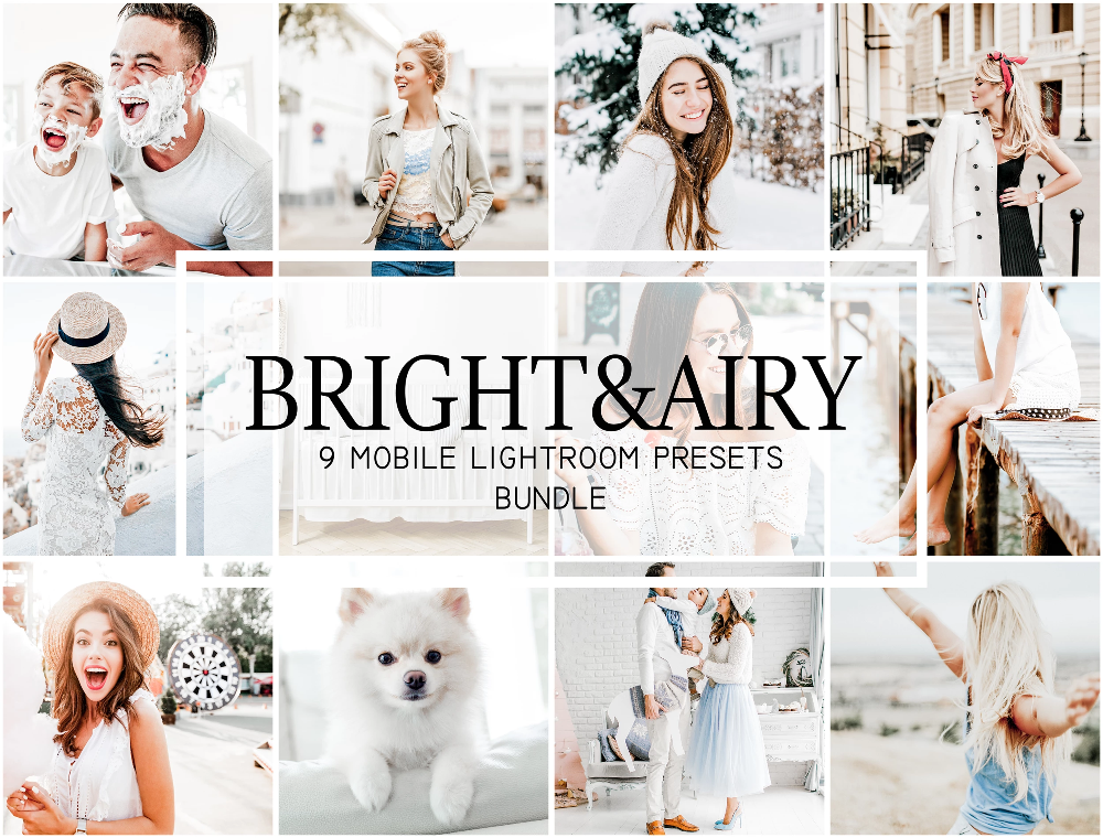 Bright and Airy Mobile Lightroom Presets Lightroom