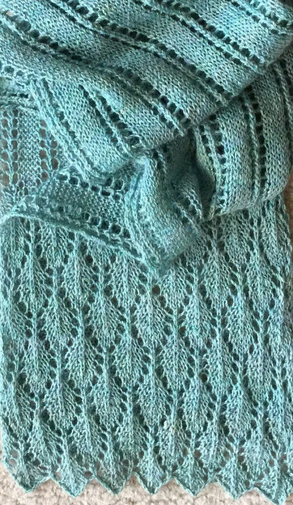 Free Knitting Pattern For Summer Stream Scarf Free Knitting