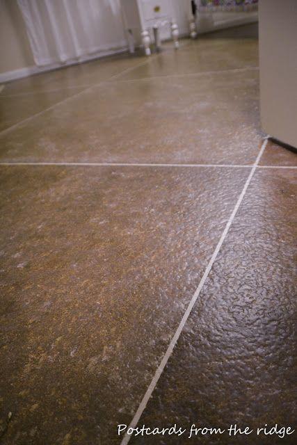 Diy Faux Painted Tile Floor Painting Floors Flooring