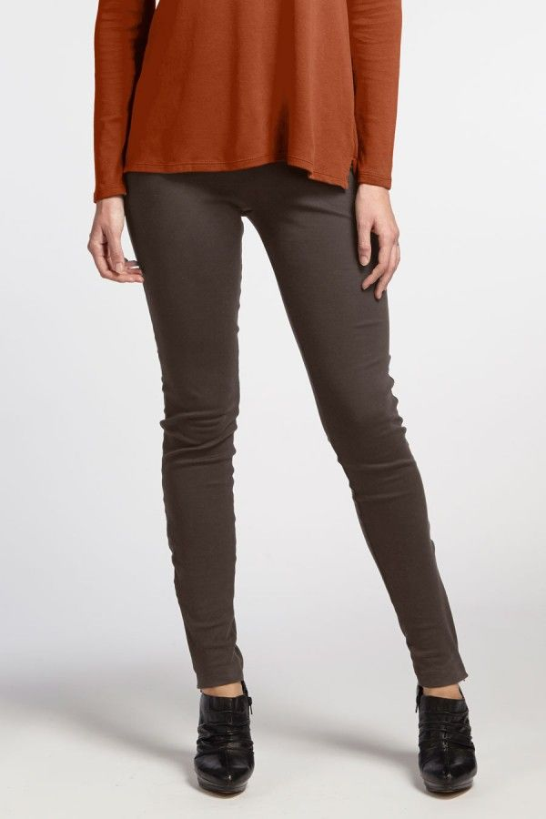 Luxe Zip Leggings in Graphite organic cotton by Indigenous