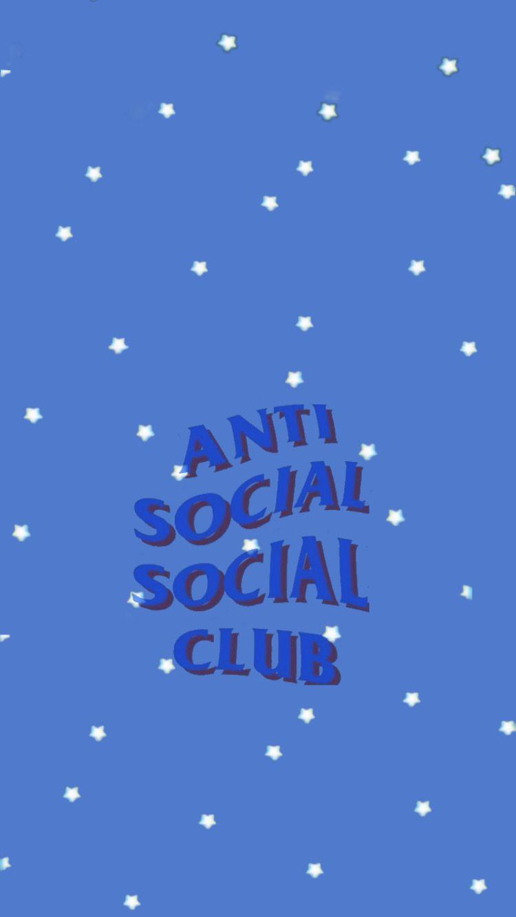 Anti Social Social Club Wallpaper Light Blue Aesthetic Blue Aesthetic Tumblr Nerdy Wallpaper