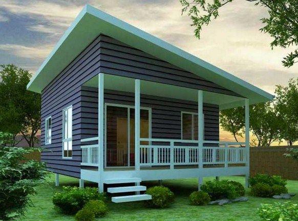 fachadas de casas sencillas con techos inclinados lu