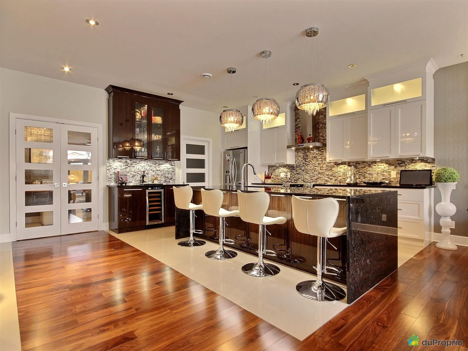 cuisine classique blanche et brun magnifique 238lot en