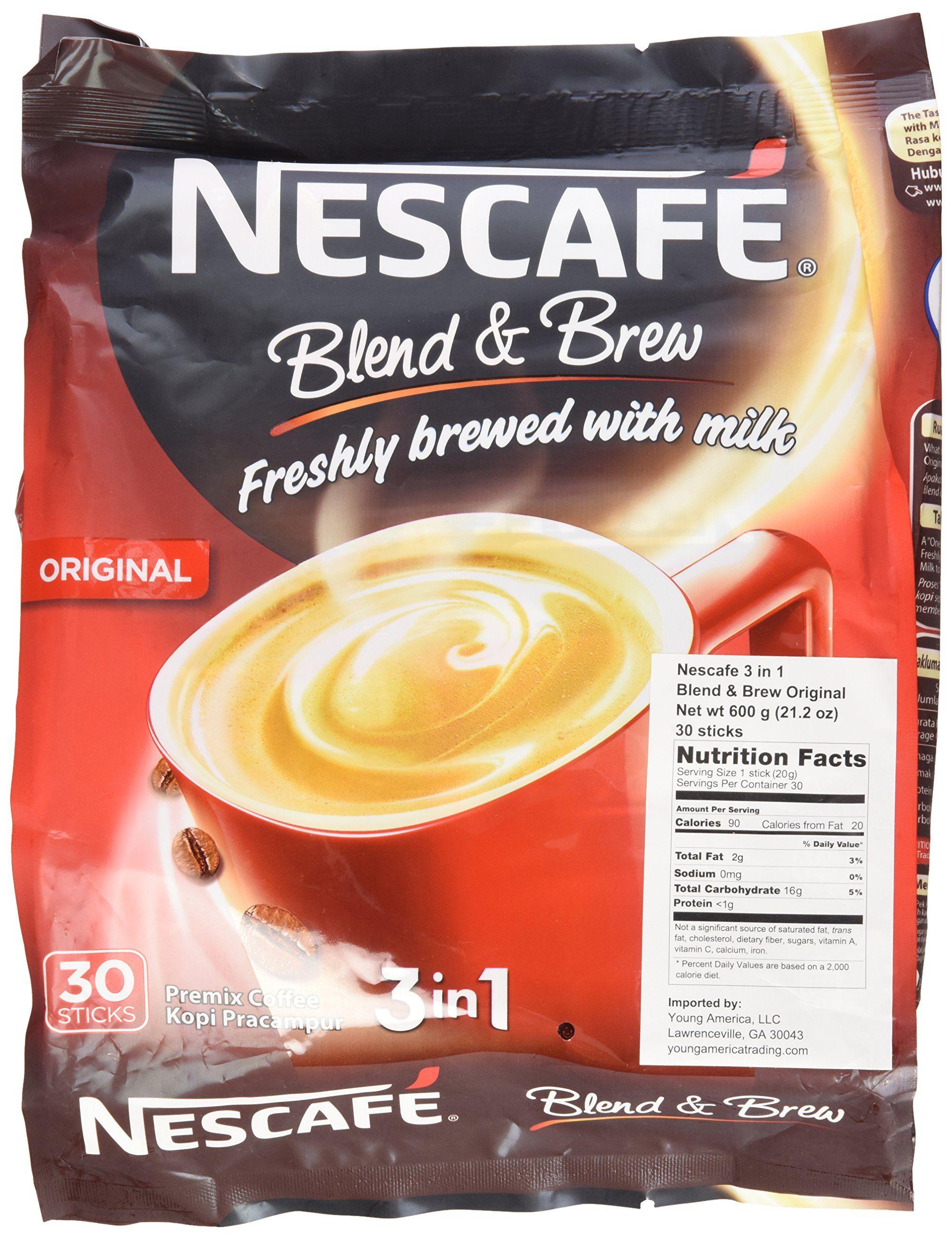 2 PACK Nescafe Blend and Brew 3 in 1 Original 56 Sticks