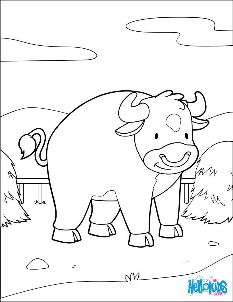 Un coloriage de vache simple pour les enfants Un coloriage sur le th¨me de la