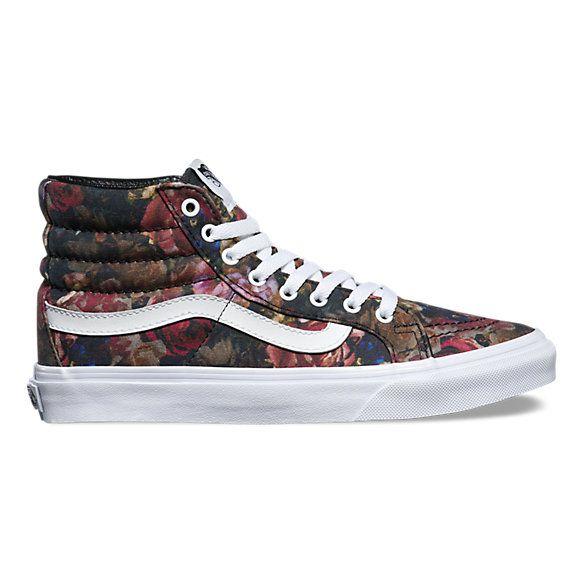 Moody Floral SK8-Hi Slim   Shop At Vans. Floral VansFloral SneakersFloral Print  ShoesVans SneakersVans ShoesHigh ...