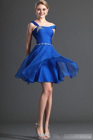 Vestidos Cortos de Fiesta Azules
