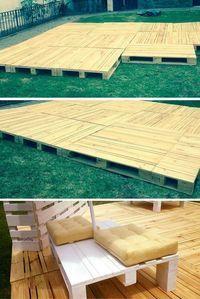 Build Pallets Deck And Furniture Piscina Santo Domingo