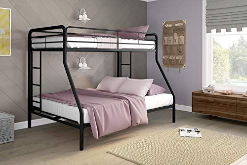 Dhp Twin Over Full Bunk Bed With Metal Frame And Ladder Space