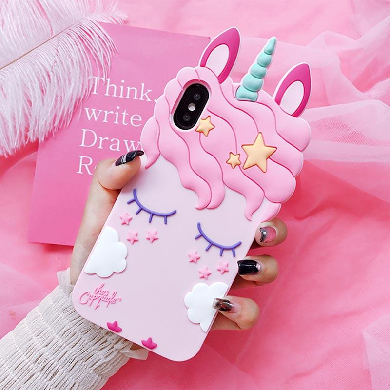 3D unicorn soft silicone case for